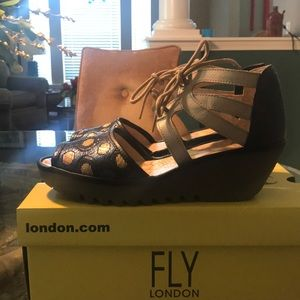 Stylish leather shoes by Fly London.